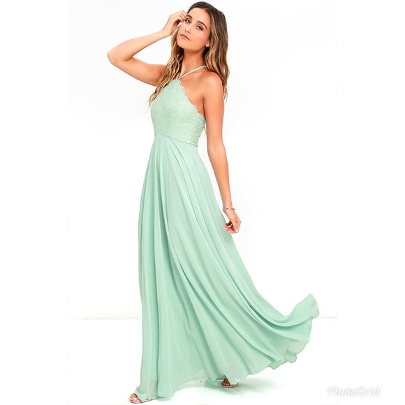c0db44b866c BNWT Lulu s sage green formal maxi dress